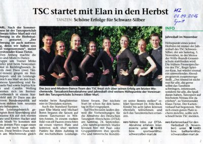 TSC Start in den Herbst 2016
