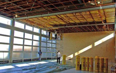 Turnhalle Goethestr. – Arbeiten an der Decke – Nutzungseinschränkung