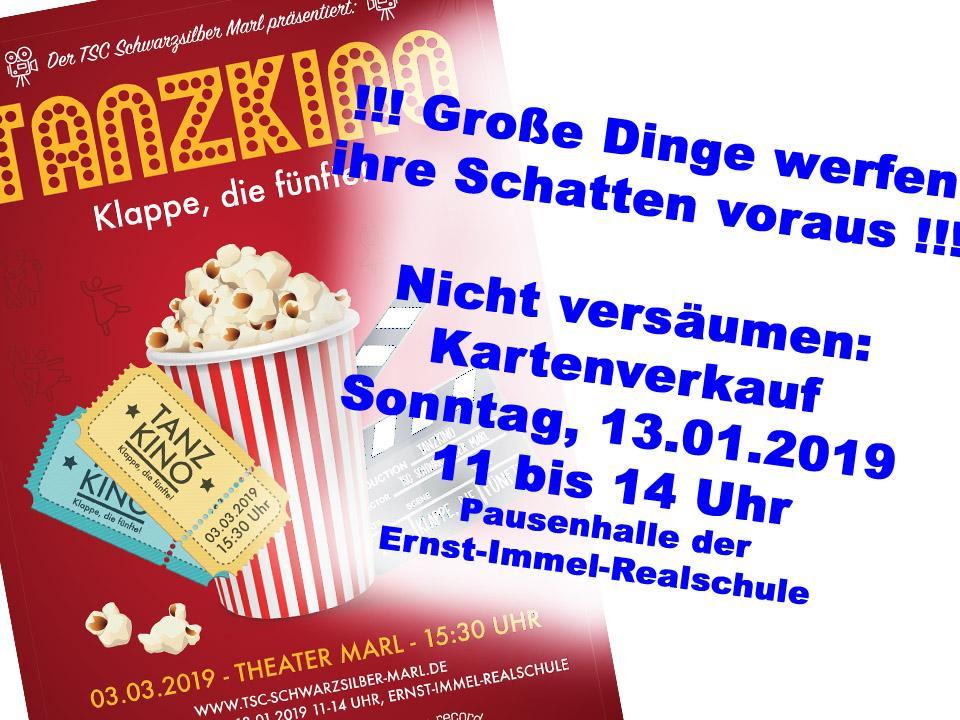 13.01.2019 - Kartenverkauf für die Tanzshow am 03.03.