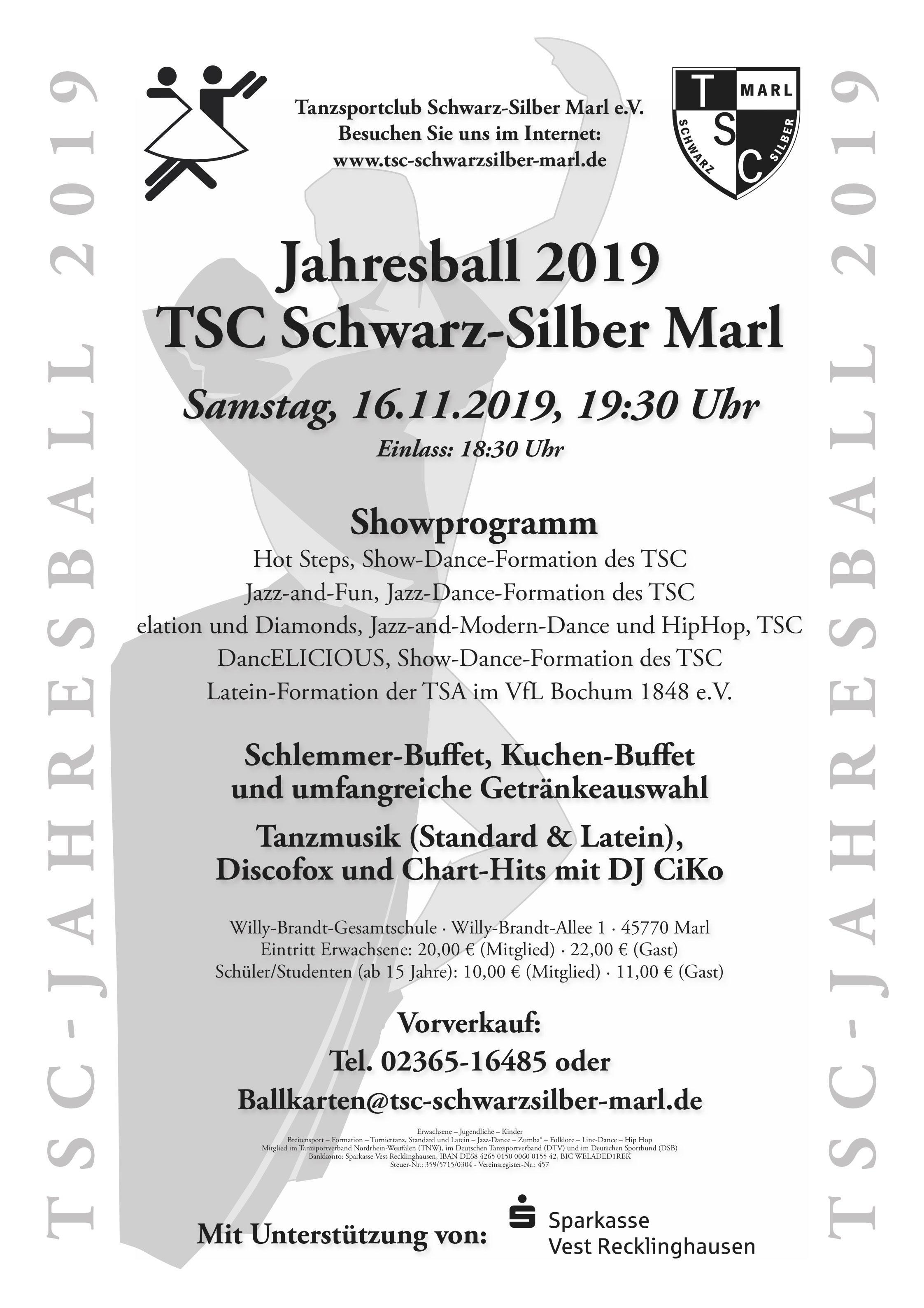 16.11.2019 - Jahresball des TSC