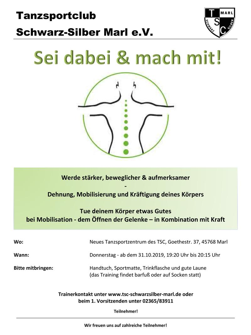 """31.10.2019 - Start der neuen Gruppe """"Mobilisation mit Kraft!"""""""